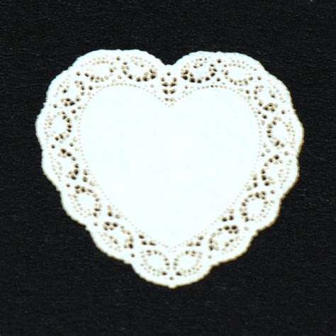Wholesale Home Decore Heart Miniature Lace Doily 26 Stewart Dollhouse Creations
