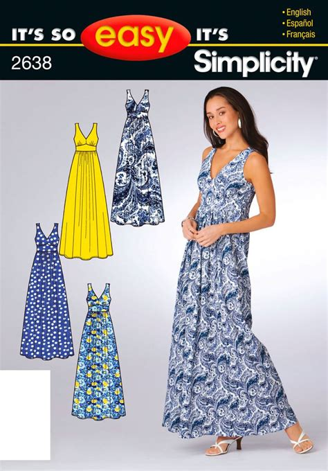 sewing pattern simple dress de 25 bedste id 233 er inden for maxi dress patterns p 229