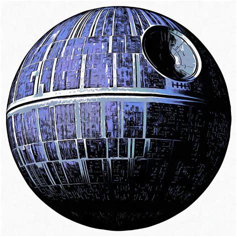 Star wars deathstar graphic drawing by edward fielding