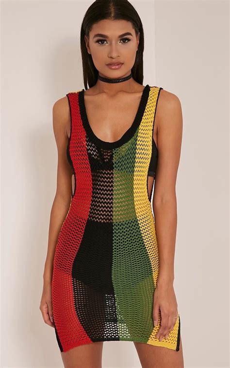 Dress Reggae Blues Berkualitas rihanna striped side split knitted maxi dress knitwear prettylittlething prettylittlething