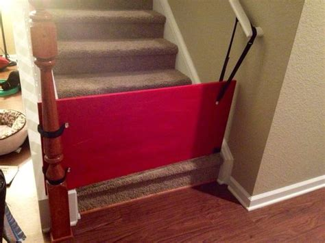 child gate for stairs with banister baby gates plywood and gates on pinterest