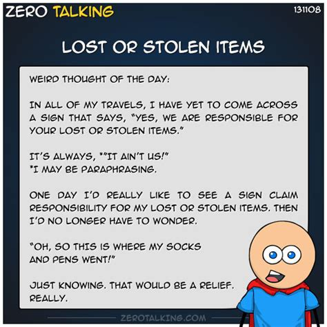 Themes Of The Story My Lost Dollar | lost or stolen items zero talking