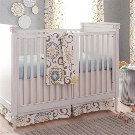 Unisex Crib Bedding Spa Pom Pon Play Crib Bedding Gender Neutral Baby Bedding Carousel Designs