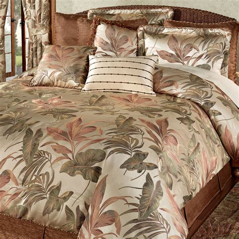 palm bedding bali palm tropical comforter bedding by croscill