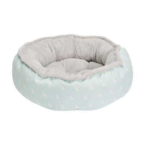 plush dog beds round plush pet bed small triangle print kmart