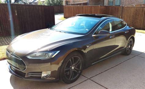 Tesla Model S Warranty 2013 Tesla Model S 85 Kwh Brown Excellent Condition