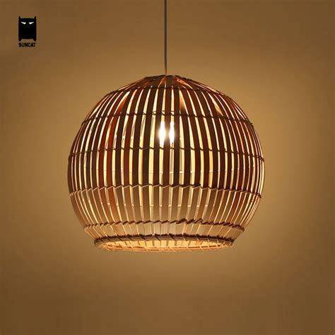 Wicker Pendant Lights Bamboo Wicker Rattan Basket Shade Pendant Light Rustic Ceiling L Fixture Pendant Lighting