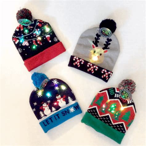 led light up christmas hat stocking caps the ugly