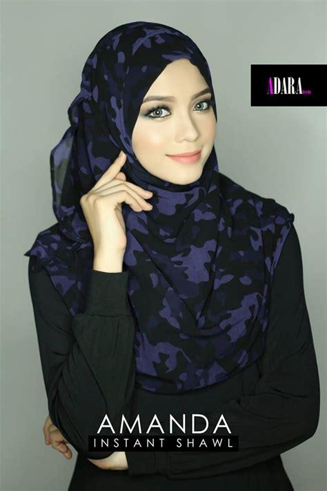 Tsuraya Pashmina Instant Hitam shawl instant yang cantik dunia farisya