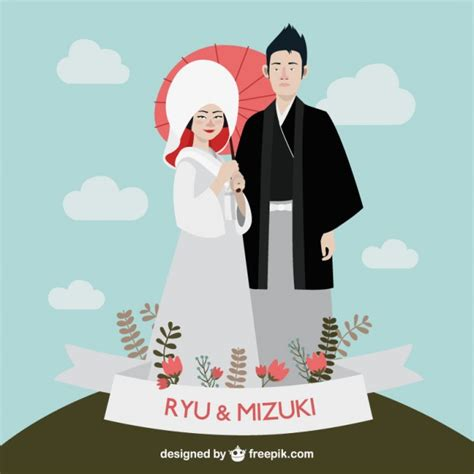 Japanese Wedding Clip by Japanese Wedding Vector Free