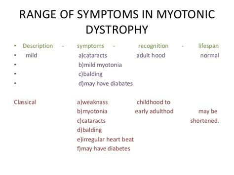 myotonic dystrophy pattern of weakness myotonic dystrophy