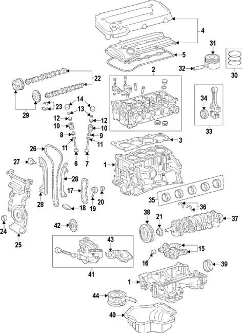 toyota camry parts diagram parts 174 toyota block camry 2 4l partnumber