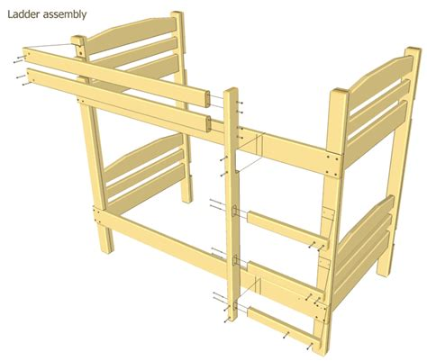 woodwork bunk bed ladder plans  plans