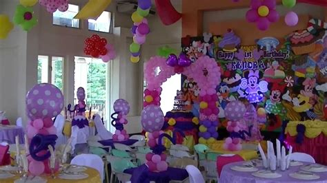 Groove paint minnie mouse amp friends theme styro backdrop amp balloon decor youtube