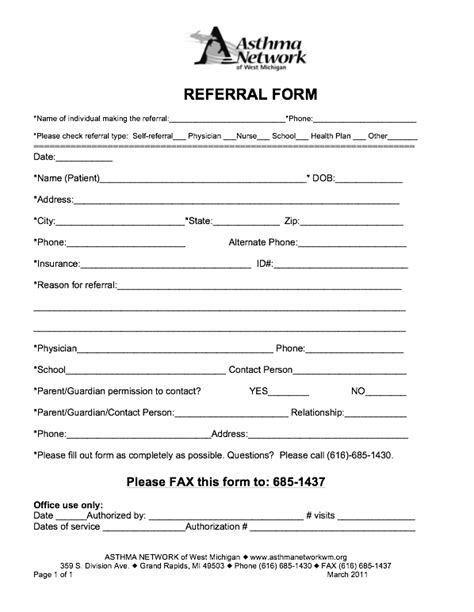 referral template search results for patient referral form template