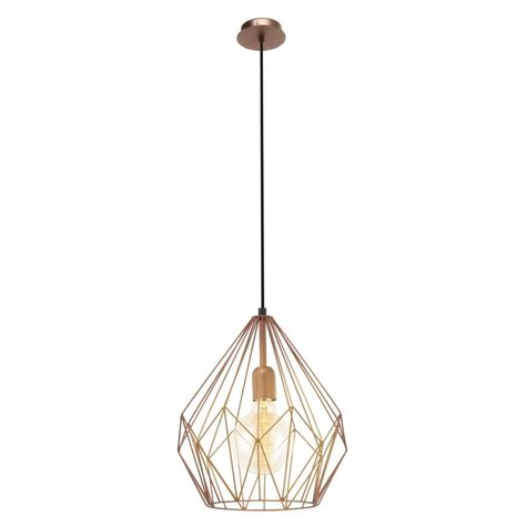 Eglo Wire Vintage Ceiling Light Copper PAGAZZI Lighting