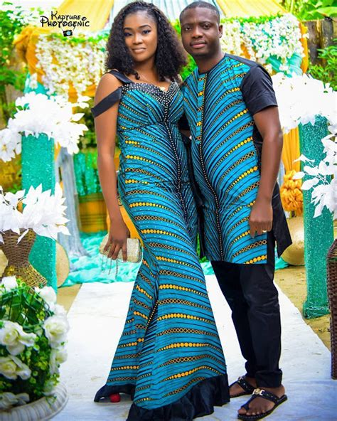 matching african outfits  couples simple design