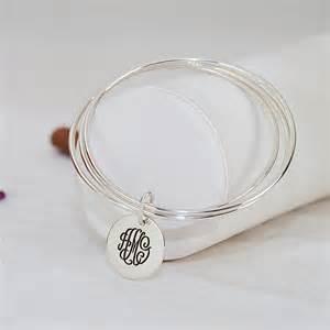 Monogram Bracelet Slip On Engraved Monogram Bracelet