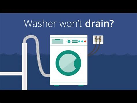 won t drain washer won t drain how to clean out your drain hose youtube