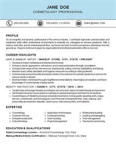 cosmetology cover letter sles cosmetology resume exle hair makeup