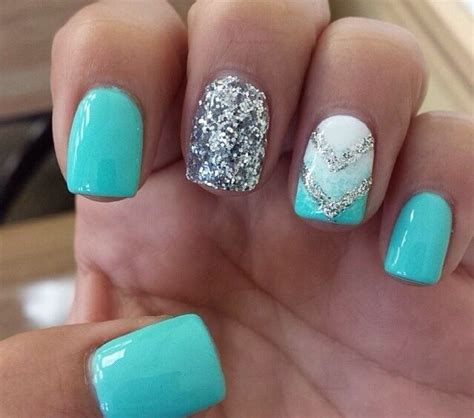 aqua acrylic nails top 25 best teal acrylic nails ideas on mint