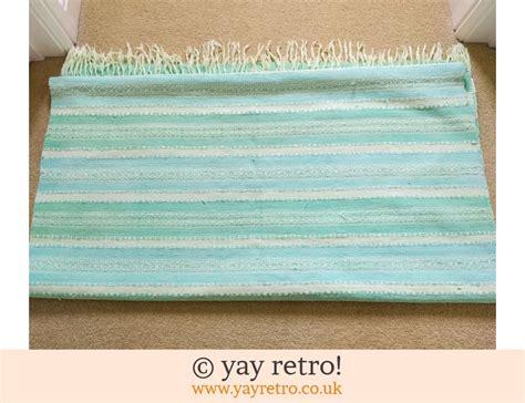duck egg blue runner rug large cotton duck egg blue rug runner vintage shop retro china glassware kitchenalia