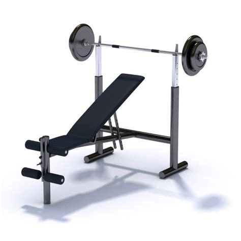 Gym Equipment Bench Press With Variable Seat Angle 3d Model Cgtrader Com