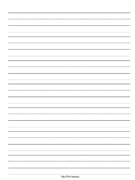 primary letter writing paper learning to write paperkindergarten writing paper