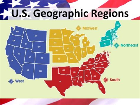 america map geographic regions the united states of america ppt