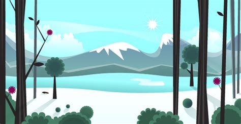 tutorial illustrator landscape winter vector inspiration and snowy resources