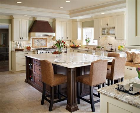 kitchen island with table extending kitchen island to a dining table http www