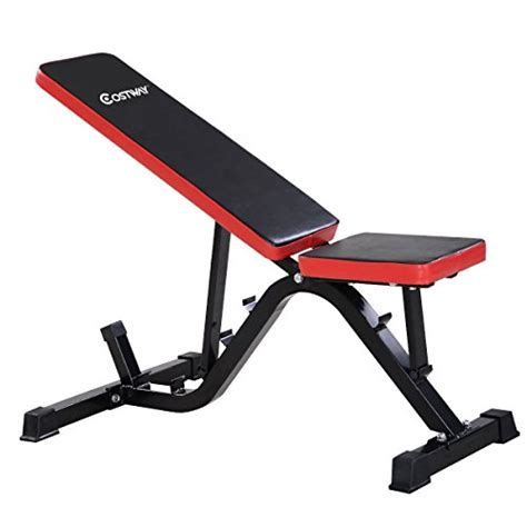 flat bench fly goplus adjustable sit up ab incline abs bench flat fly