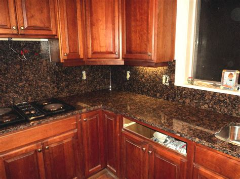 Marble Top Kitchen Island by V Hurley Baltic Brown Granite Kitchen Countertop