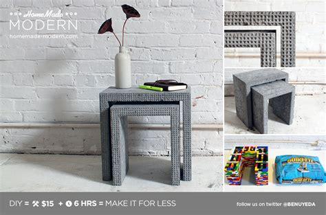 diy lego table concrete modern ep34 concrete nesting tables