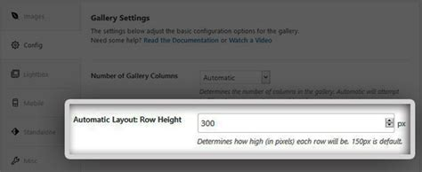 layout row height how to change the default thumbnail size for your image