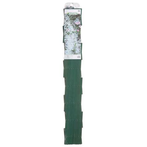 enrejado pvc blanco nature enrejado de jard 237 n pvc 100x200 cm verde 6040704