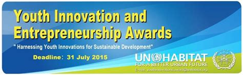 Mba Innovation And Entrepreneurship by 2015 Un Habitat Youth Innovation And Entrepreneurship
