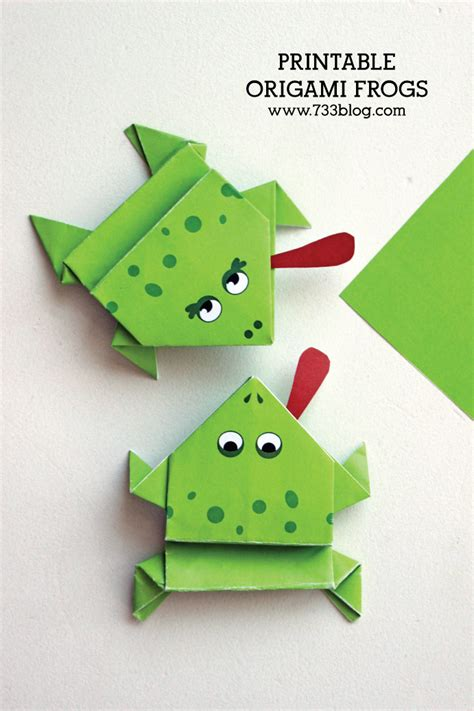 easy origami frog printable origami frogs inspiration made simple