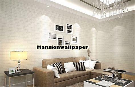 jual wallpaper dinding batu bata putih  lapak