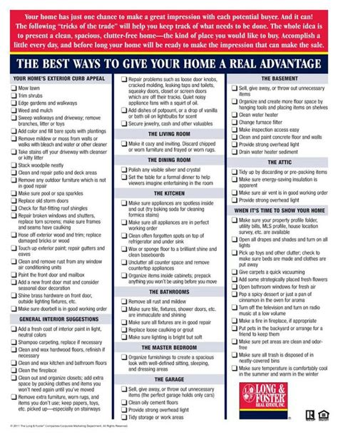 house checklist home sellers checklist selling house tips pinterest