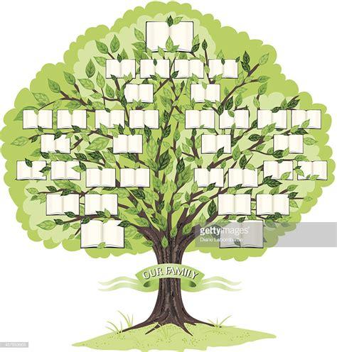Arbre G 233 N 233 Alogique Mod 232 Le Clipart Vectoriel Getty Images Vector Image Template Family Tree