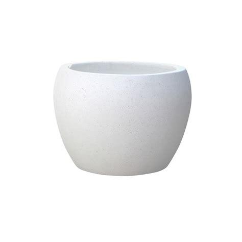 white pot northcote pottery x large white precinct lite terrazzo