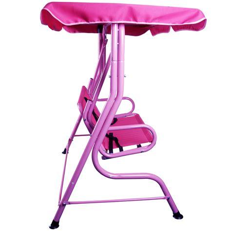 Kids 2 Seat Pink Garden Swing Hammock W Saftey Belts Ebay
