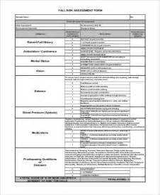 formal risk assessment template sle fall risk assessment forms 7 free documents in