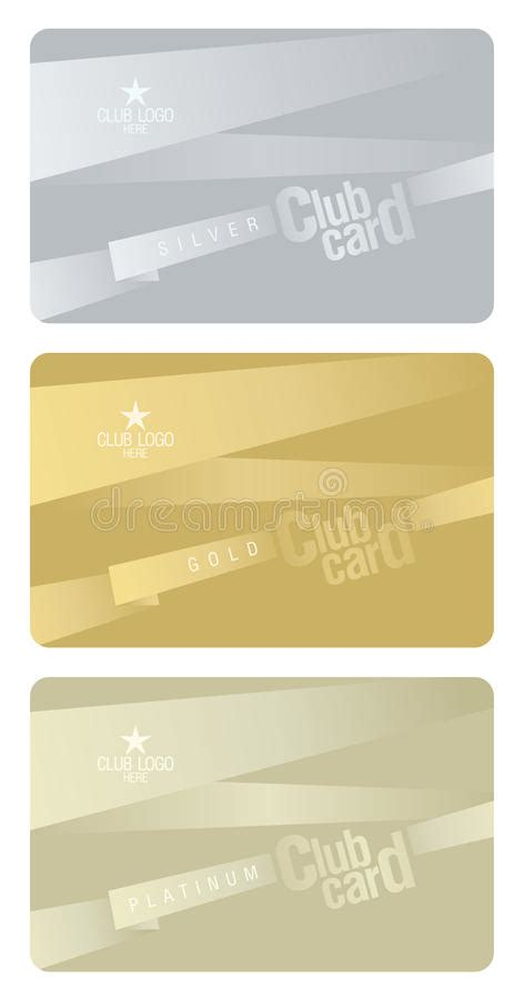 club card template club card design template stock vector illustration of