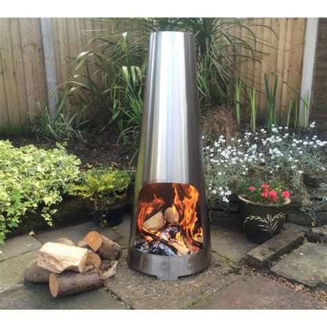 buy made o metal stainless steel cone chimenea outdoor log