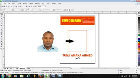 company id card template cdr how to design id card in coreldraw free tutorials for