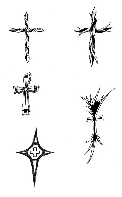 small tribal tattoo designs cross images designs