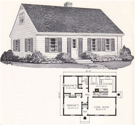 Small Cape Cod House Plans by 1961 Weyerhauser Home Plans Design No 4130 Cape Cod