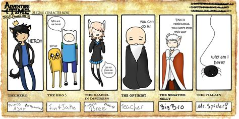 Adventure Time Original Character Meme - adventure time meme by bree and ajay on deviantart